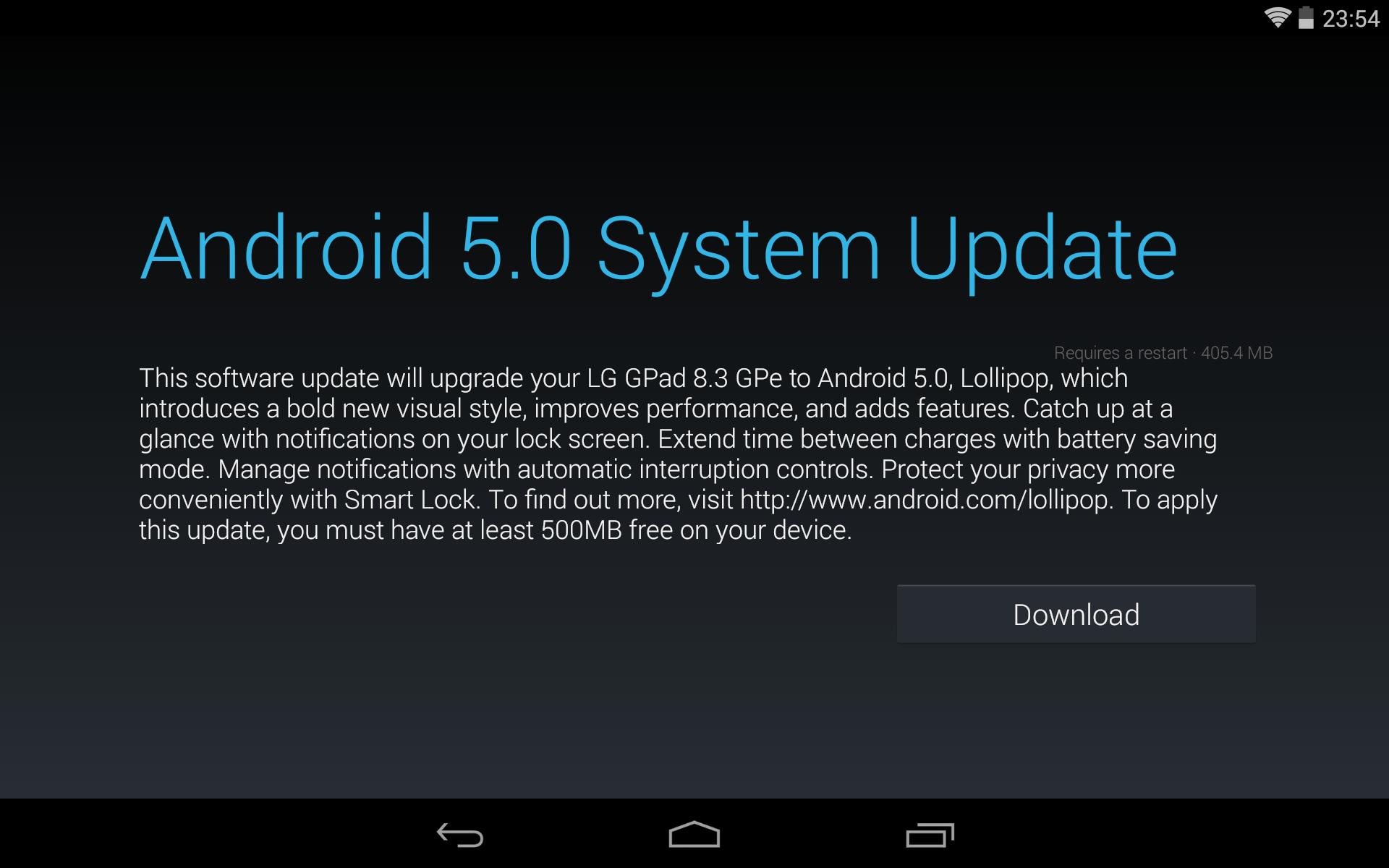 Android 5.0 Lollipop arriva su LG G Pad 8.3 GPe e Sony Xperia Z2!