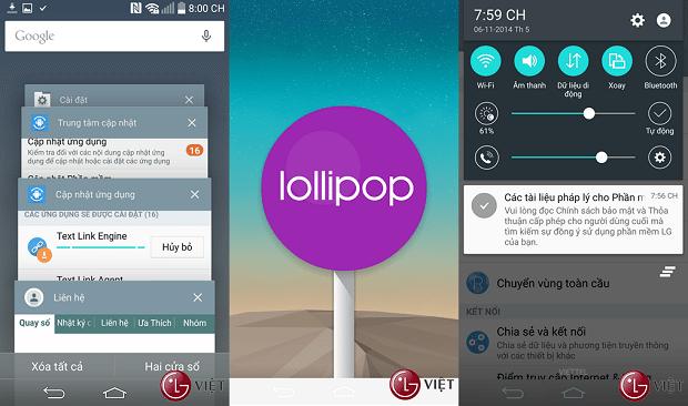Android 5.0 Lollipop per LG G3 si mostra in tante nuove immagini