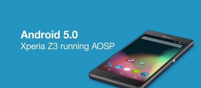 Android 5.0 Lollipop arriva su Sony Xperia Z3 in versione sperimentale