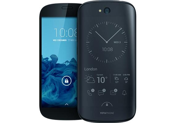 Yotaphone 2 presentato:Il primo smartphone con doppio display e-ink