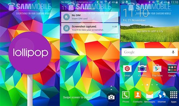Aggiornamento Samsung Galaxy S5: arriva Android Lollipop 5.0!