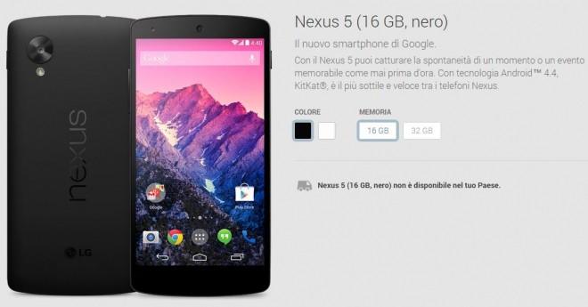 Nexus 5; è giunta l'ora della fine: modello rosso eliminato