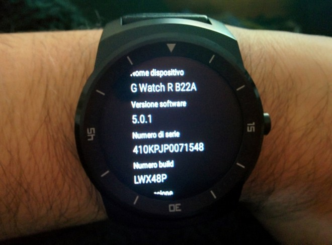 LG G Watch R: l'aggiornamento ad Android 5.0.1 è già disponibile in Italia