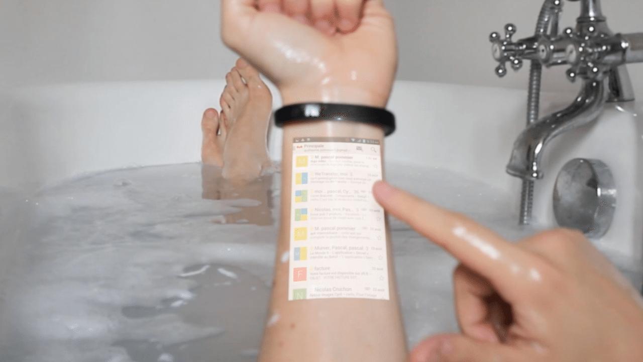 Cicret:Il braccialetto che proietta Android sul nostro polso!