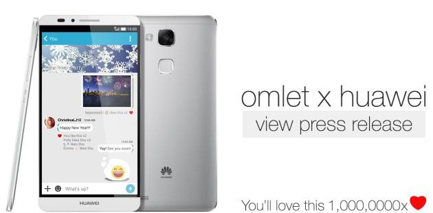 Huawei preinstallerà l'App Omlet Chat sui prossimi dispositivi
