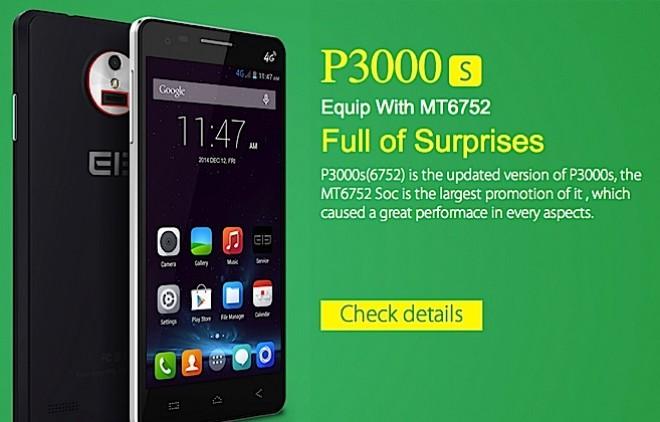 Elephone P3000S: dalla Cina il primo MediaTek MT6752 con ben 3GB di RAM