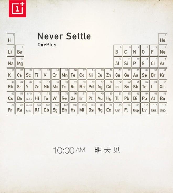 OnePlus: arriva un teaser con la tavola periodica, cosa potrebbe essere?