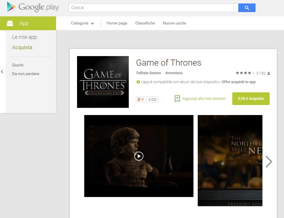 Rilasciato il secondo episodio di Game of Thrones!