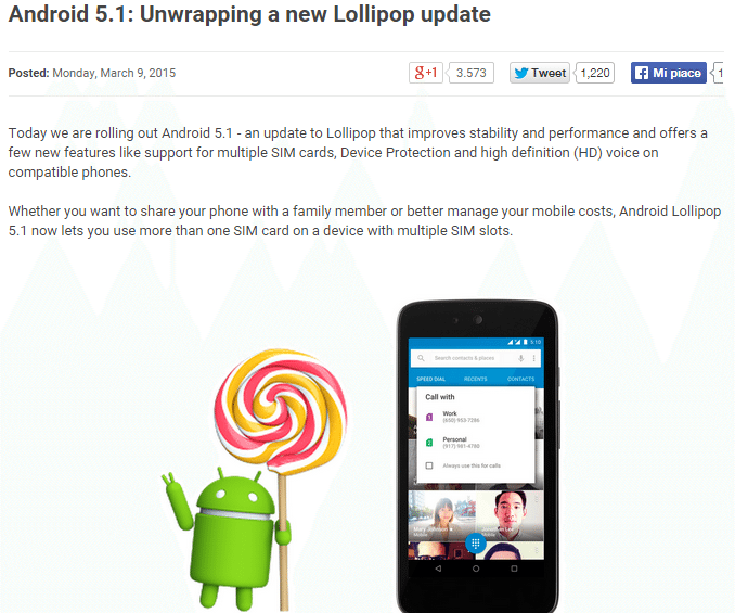 Google annuncia il roll-out di Android 5.1 Lollipop! (UPDATE: Disponibili le factory image)