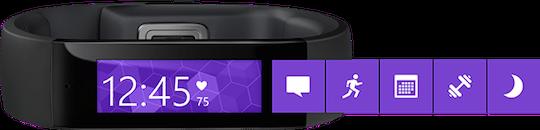 Microsoft Band è compatibile con iOS e Android con l'app Microsoft Health