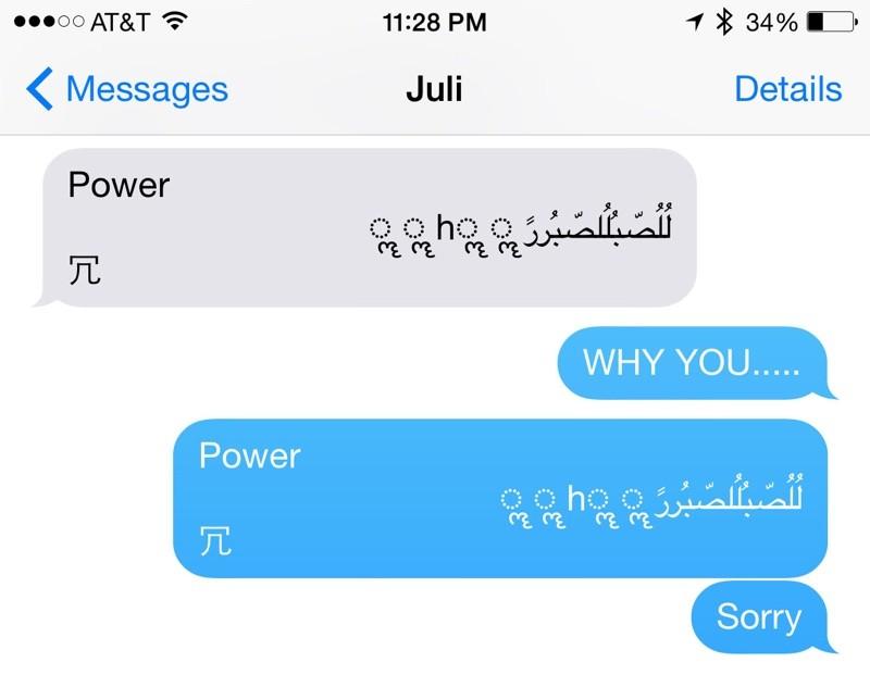 Come risolvere il bug Unicode of death su iPhone