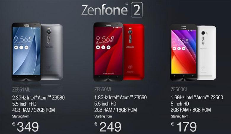 Asus rilascia un update corposo e corregge numerosi bug sul suo Zenfone 2 4 GB RAM