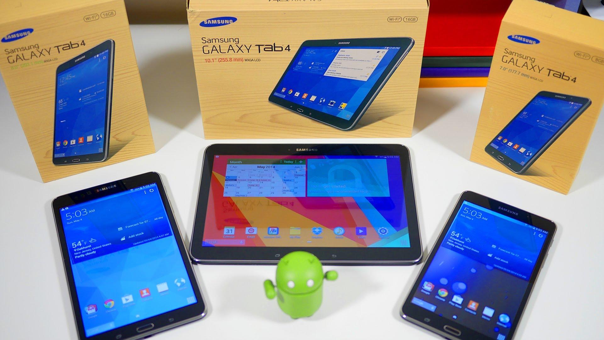 Galaxy Tab 4.8.0 LTE si aggiorna con Android 5.1.1 Lollipop