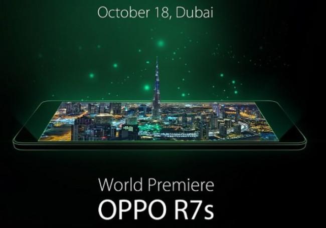 OPPO R7s: presentazione ufficiale e luogo