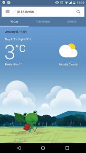 grafica interfaccia meteo google