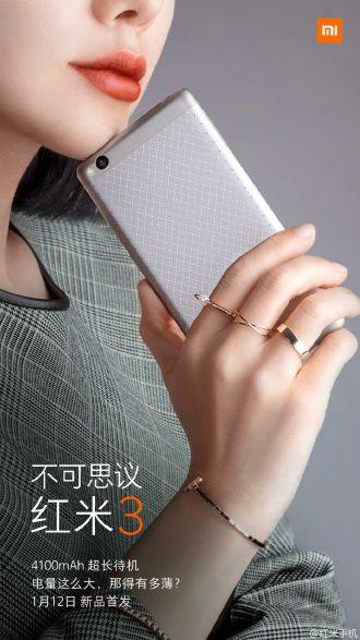 Xiaomi rivela Redmii3 da 5 pollici data di uscita