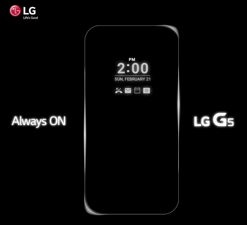 È confermato: LG G5 avrà un display Always On