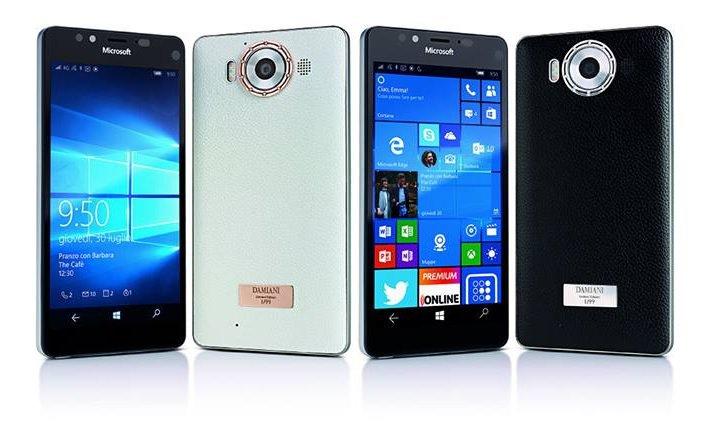 Damiani firma una cover di lusso per Lumia 950