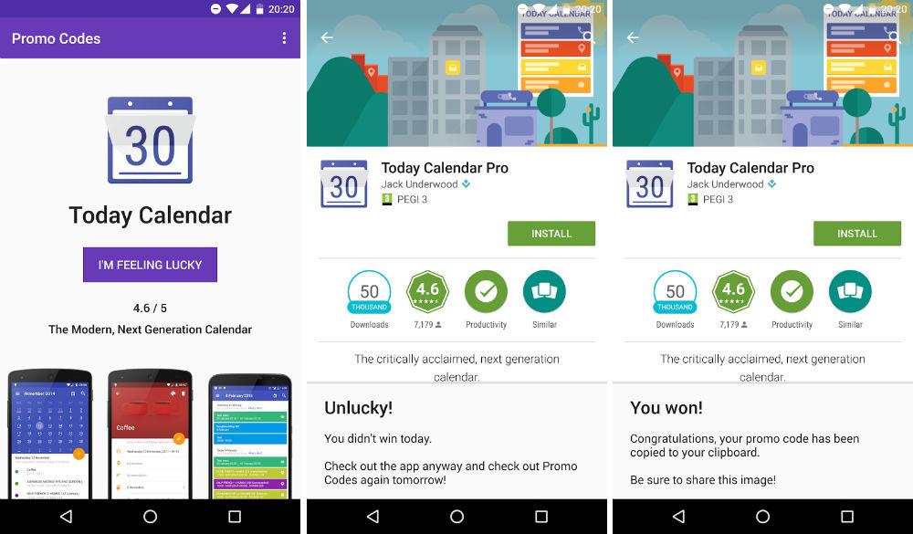 Promo Codes, l'app che vi fa vincere altre app!