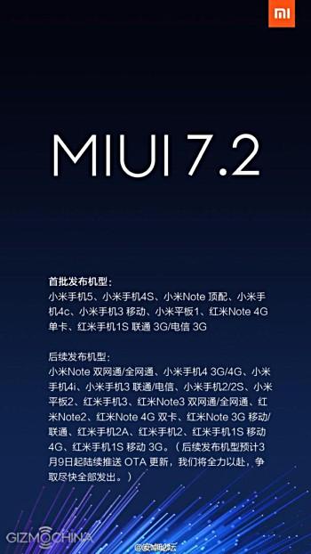 Altri dispositivi Xiaomi si aggiornano a MIUI 7.2
