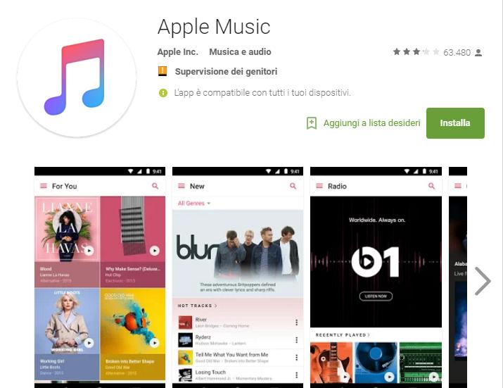 Apple Music, l'app si aggiorna su Android: supporto ai video musicali ed abbonamento per le famiglie