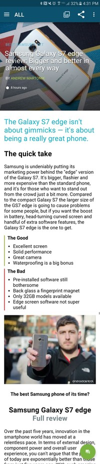 Samsung Galaxy S7: come realizzare uno screenshot multiplo