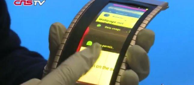 Prime immagini dello smartphone flessibile: video anteprima