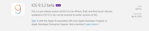 iOS 9.3.2, Apple rilascia la seconda versione beta