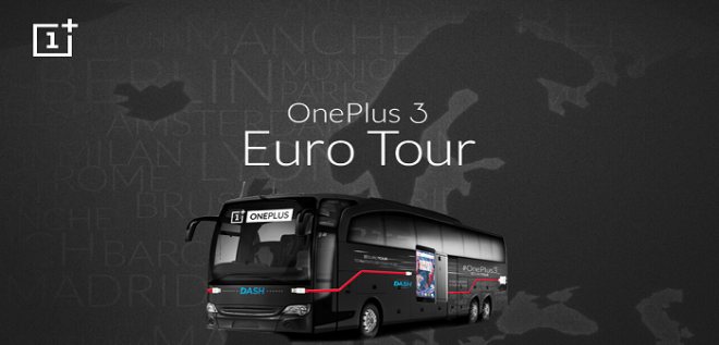 OnePlus 3 Euro Tour