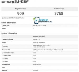 Samsung Galaxy Note 7 arriverà con Android Nougat a bordo