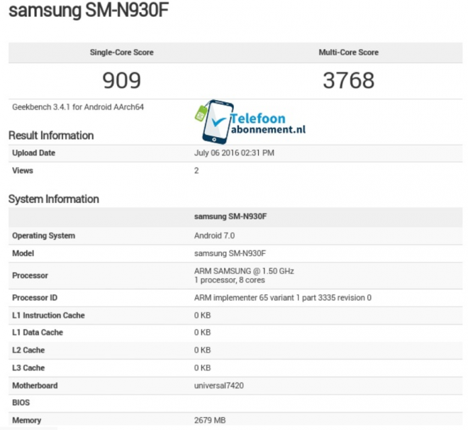 Samsung Galaxy Note 7 arriverà con Android Nougat a bordo?