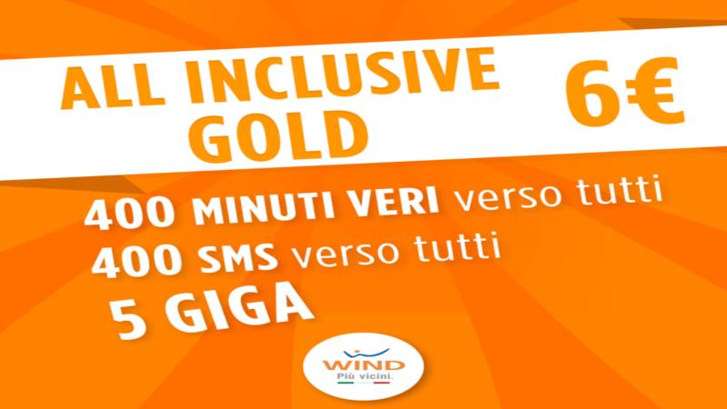 Nuove offerte Wind: All Inclusive Gold in esclusiva per i clienti Vodafone