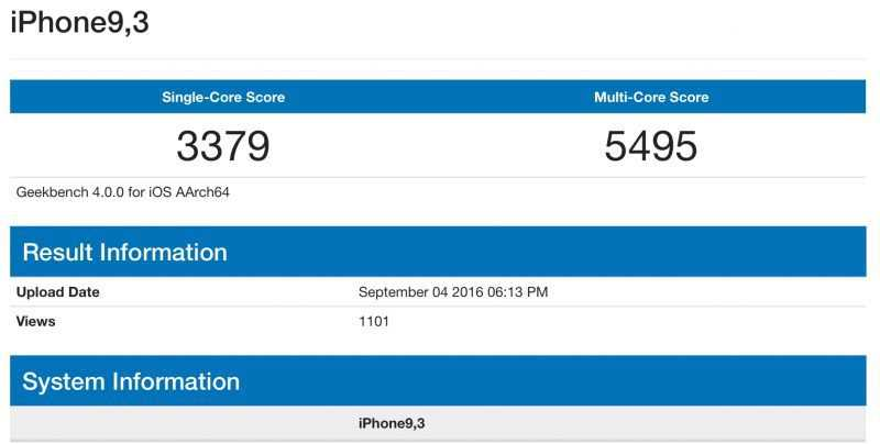 iPhone 7 fa la sua comparsa su Geekbench 4