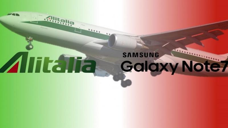 Alitalia lancia un nuovo comunicato su Note 7
