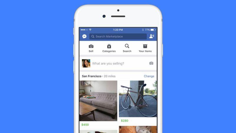 Facebook lancia finalmente marketplace, prossimamente in Italia