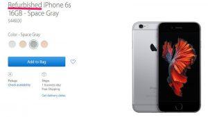 Apple inizia la vendita di iPhone rigenerati