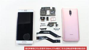 Huawei Mate 9 Pro smontato, buona riparabilità