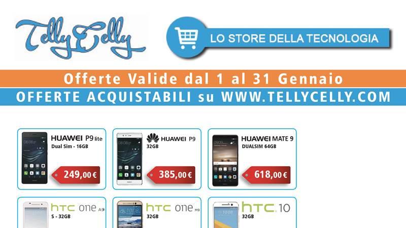 Un Gennaio di offerte smartphone su TellyCelly