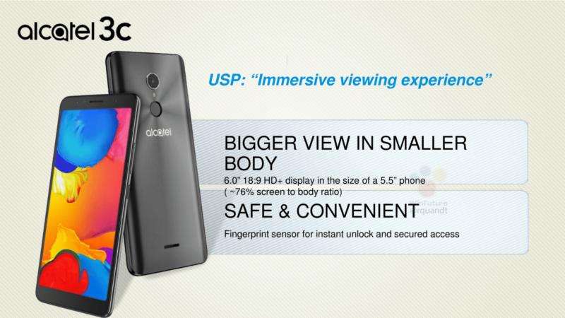 Alcatel 3C un leak mostra il design dello smartphone