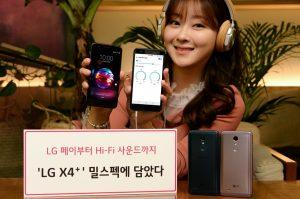 Design dell'LG X4 Plus