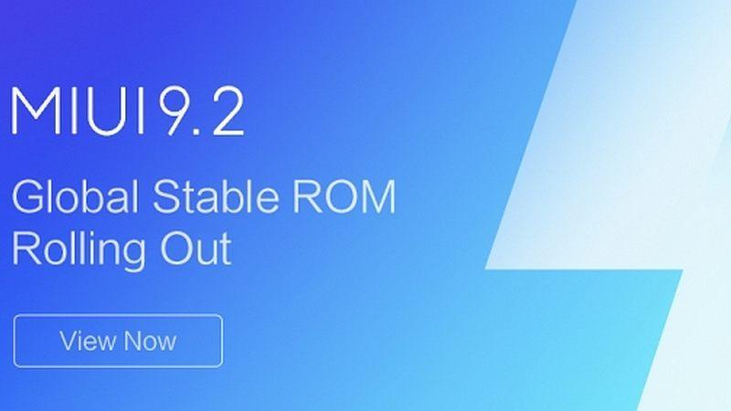 MIUI 9.2 in arrivo l'update