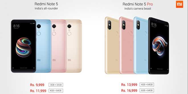 Xiaomi Redmi Note 5 e Note 5 Pro, ecco le caratteristiche tecniche ufficiali