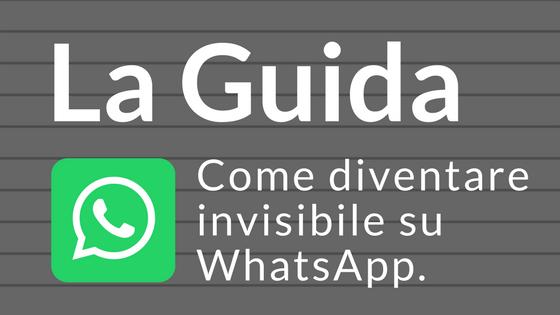 whatsapp diventare anonimi