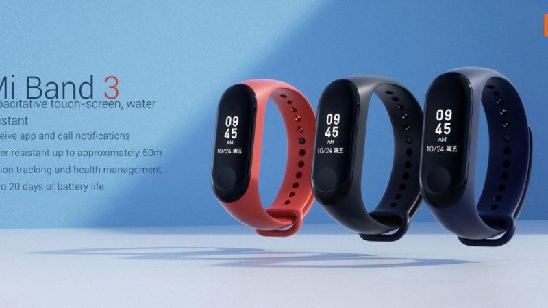 Xiaomi Mi Band 3 presentato ufficialmente