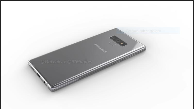 Samsung Galaxy Note 9 si mostra in nuove immagini