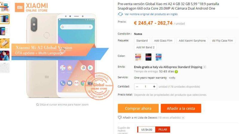 Xiaomi Mi A2 in vendita sullo store cinese AliExpress