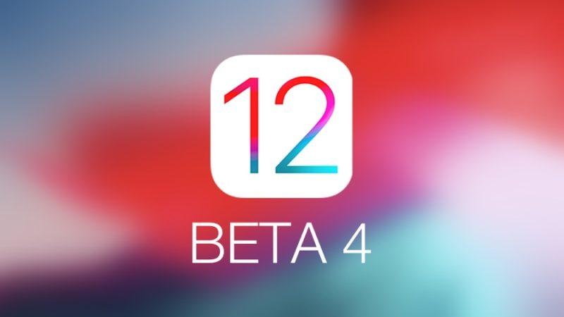 iOS 12 beta 4 aggiornamento