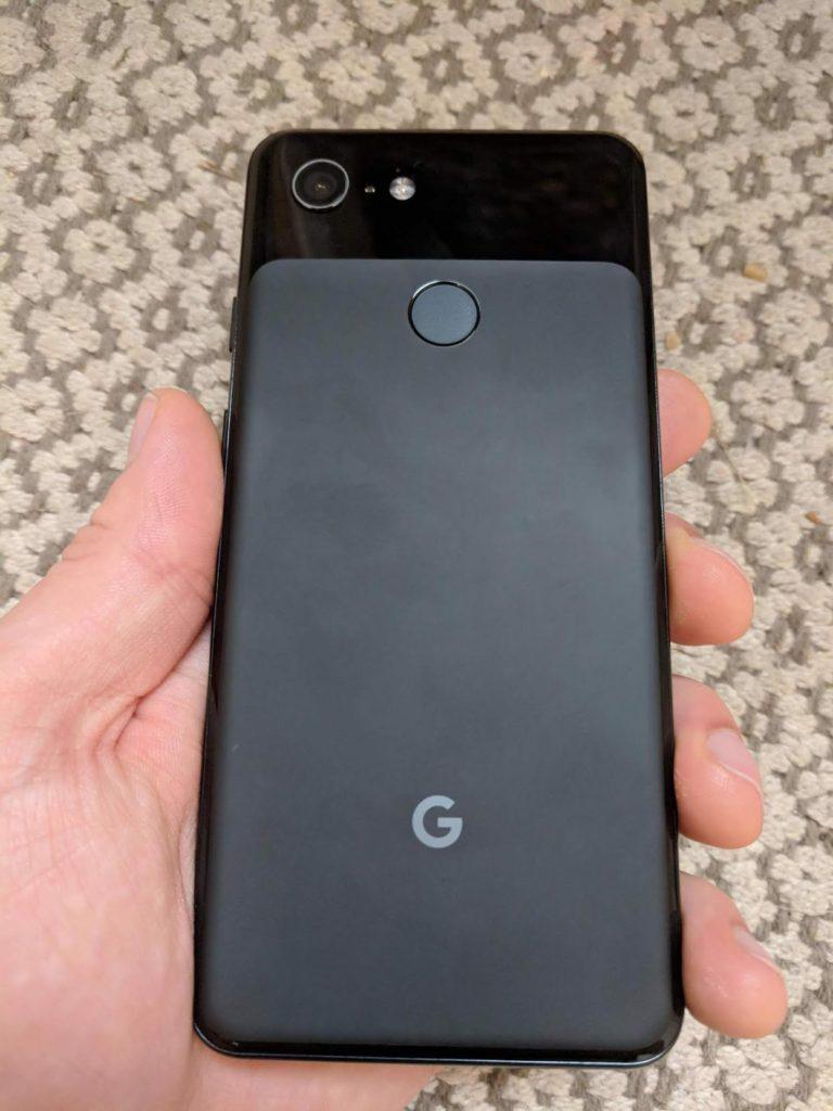 Google pixel 3 back cover