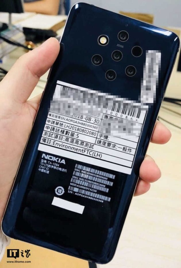 Nokia cinque fotocamere