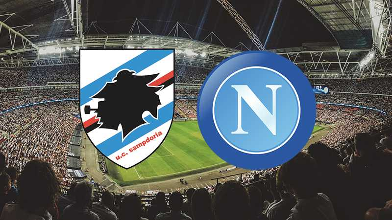 sampdoria napoli in streaming
